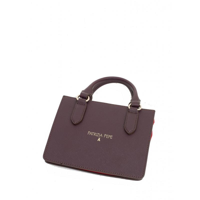 handbags woman patrizia pepe 2v6580 a1zl h304 red nylbrown