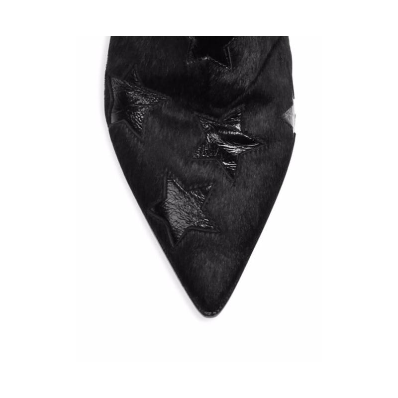 stivaletti donna ash f17 cristal01pony hair black 1925