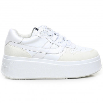 sneakers donna ash match02calf suede wht 9185