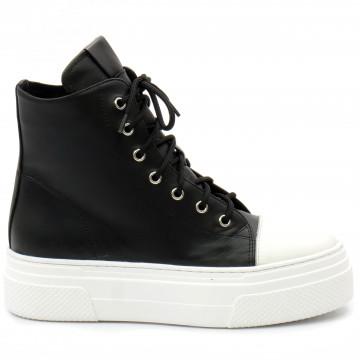 sneakers donna bruglia milano 8565nero 9336