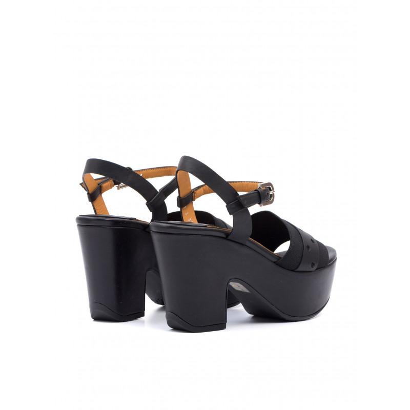 sandali donna audley 19530sena elastic black mud 711