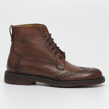 lace up ankle boots man daytona 2911lara calf moretto
