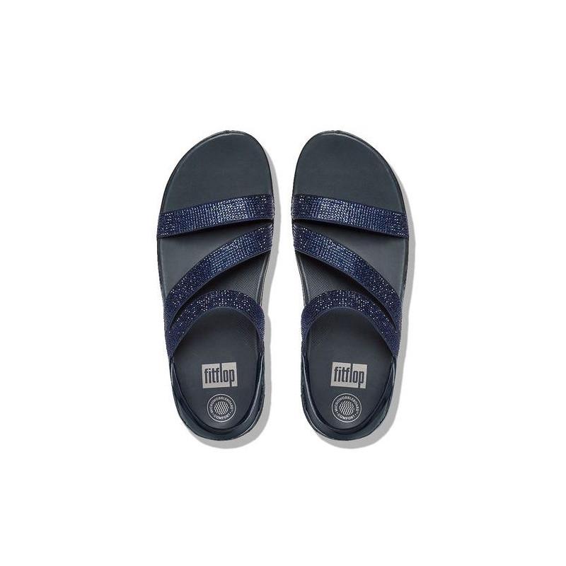 sandali donna fitflop e24 097 crystallz strap sandal navy 868