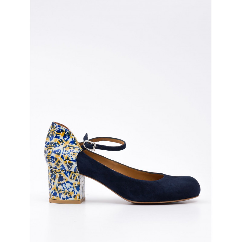 decollet donna audley 19487suede navy opal 759