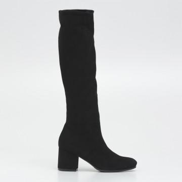 stivali donna lorenzo masiero b230659 velour nero
