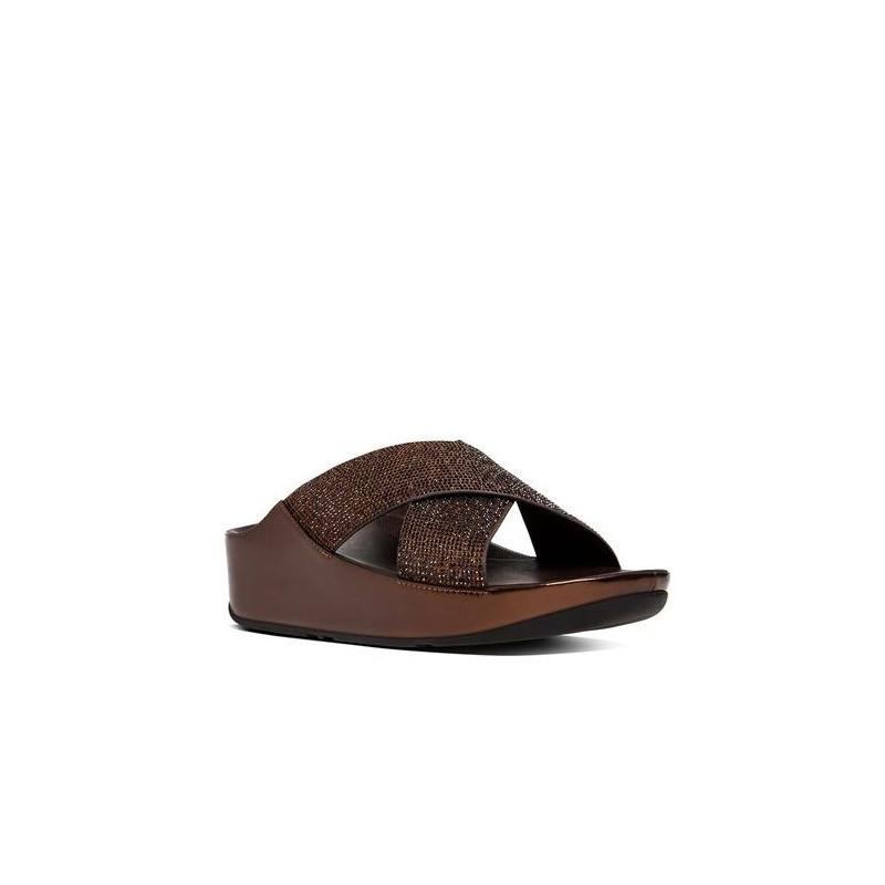 sandali donna fitflop b35 012 crystallslide bronze cryst