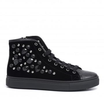 sneakers donna stokton 699 dvelluto nero