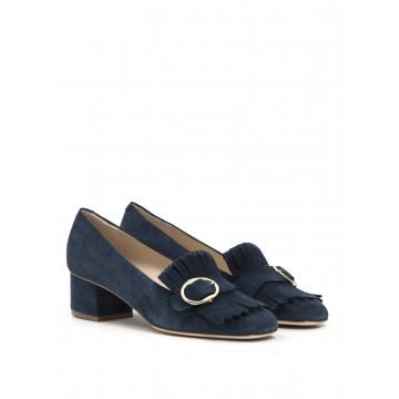 loafers woman sara 8143 camoscio blu