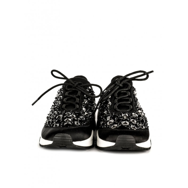 sneakers donna ash muse beads 01stretch lace blk