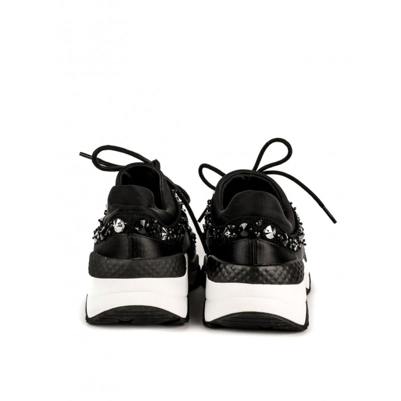 sneakers donna ash muse beads 01stretch lace blk 1445