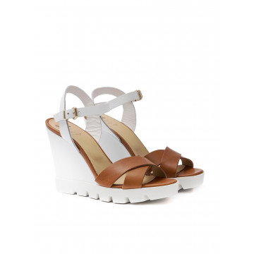 sandals woman sax 27701 bima maine cuoio