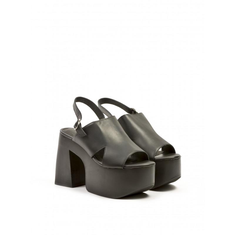 sandals woman jeffrey campbell cecilia leather black