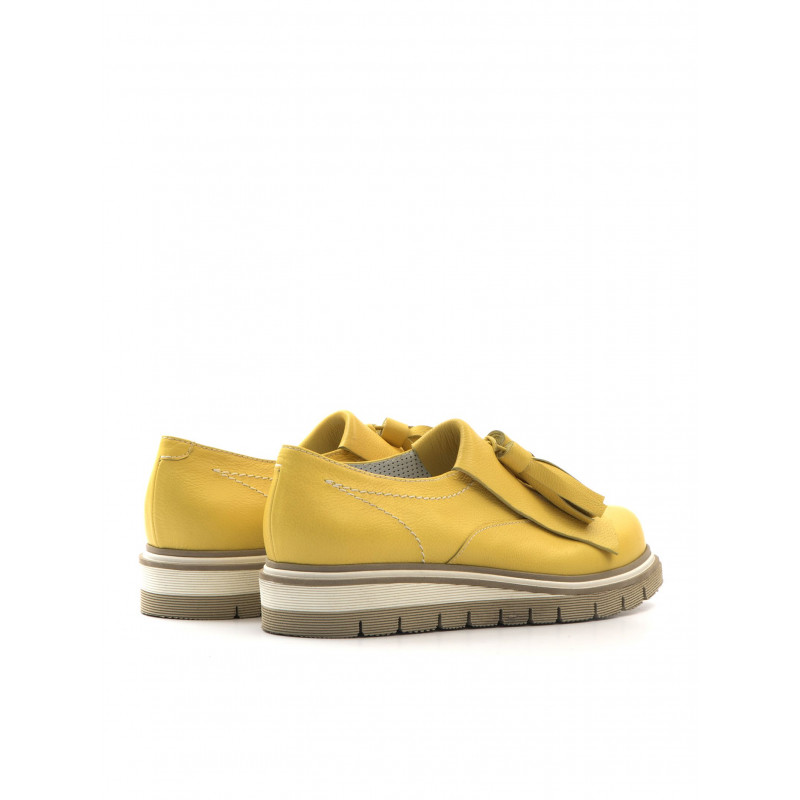 mocassini donna alfredo giantin 5439pony giallo