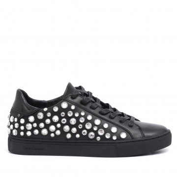sneakers donna crime london 25424a17b20 nero beat eyelet