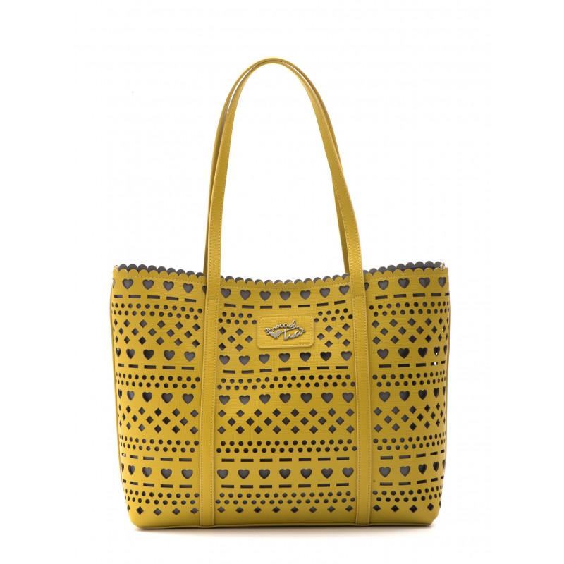 borse a mano donna braccialini b11295 yy 500tua summer giallo 725