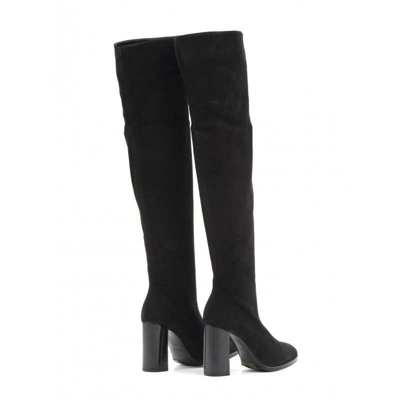 stivali donna alluminio 6912371 stretch velour nero