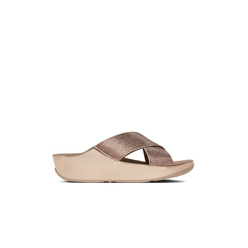 sandali donna fitflop b35 323 crystallslide rose gold cryst