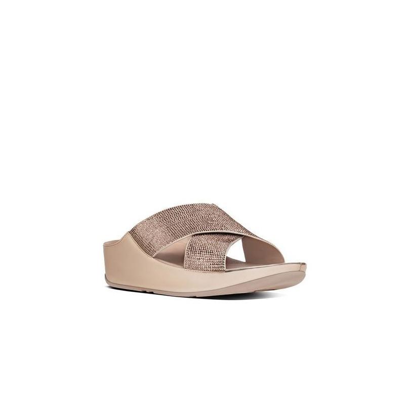 sandali donna fitflop b35 323 crystallslide rose gold cryst 801