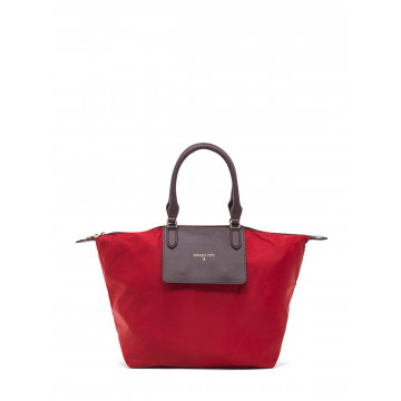 handbags woman patrizia pepe 2v6581 a1zl h304 red nylbrown