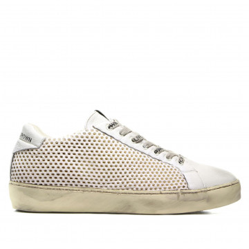 sneakers donna leather crown w iconic002