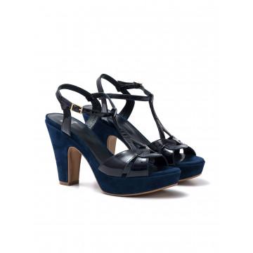 sandals woman silvia rossini 985 3720 vernice blu cam navy