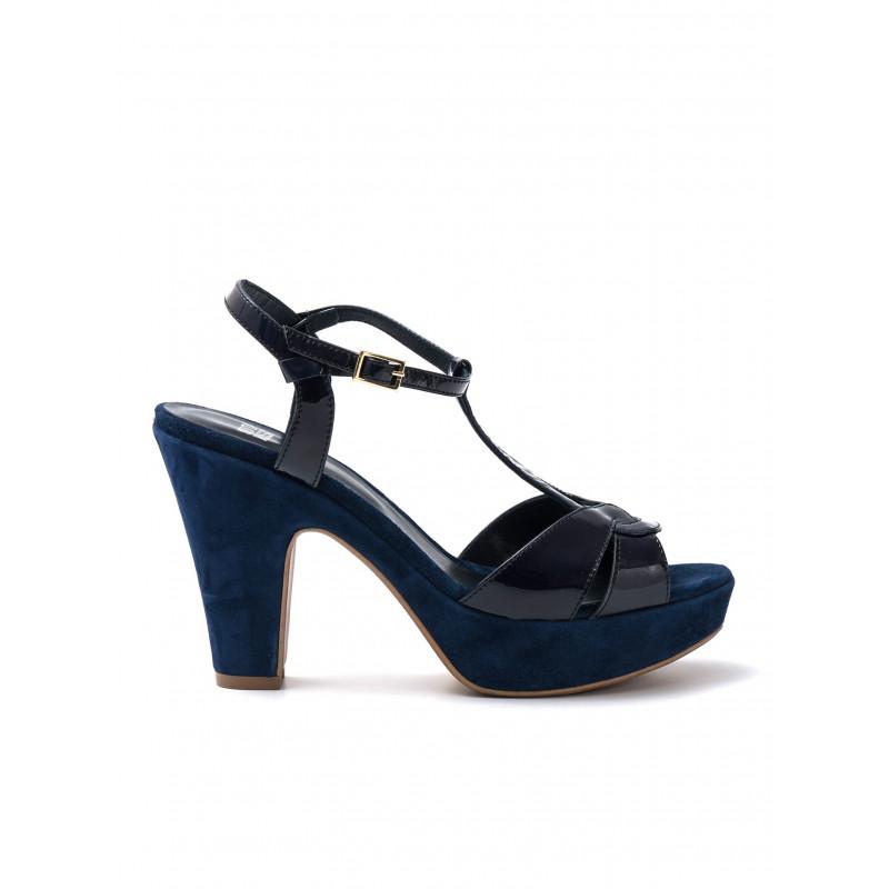 sandali donna silvia rossini 985 3720vernice blu cam navy 476