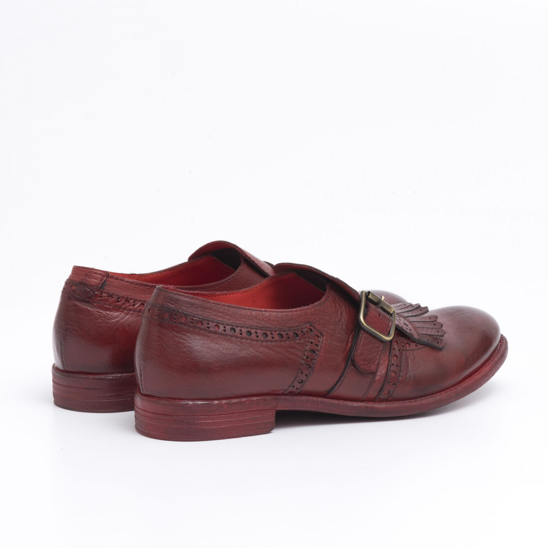 monk straps woman hundred w246 08 bufalo rosso