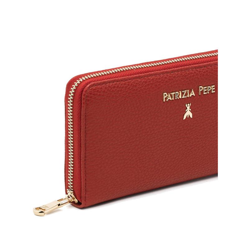 portafogli donna patrizia pepe 2v3692 av63h278 matt red 689