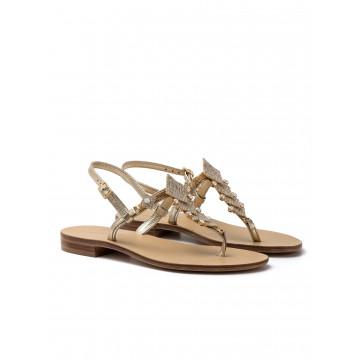 sandals woman positano 4811 laminato platino 2