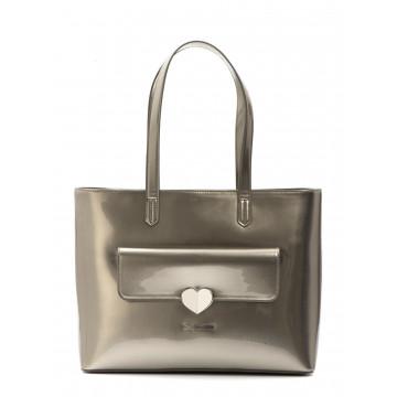 borse a mano donna love moschino jc 4251kf0902 patent argento 1633