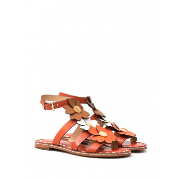 sandali donna michael kors 40s7kifa3lkit flat sandal orange