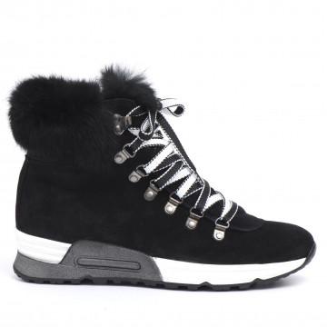 sneakers donna joyks 4124 pcamoscio nero 2498