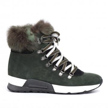 sneakers donna joyks 4124 pcamoscio verde