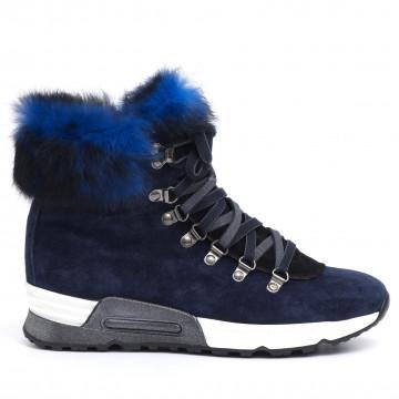 sneakers donna joyks 4124 pcamoscio blu