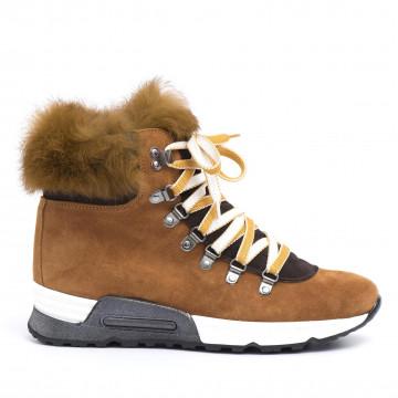 sneakers donna joyks 4124 pcamoscio cuoio