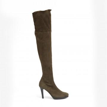 boots woman lorenzo masiero w185a216z stretch military
