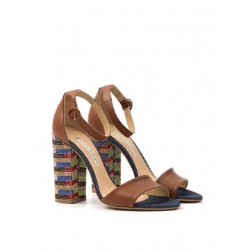 sandals woman roberto festa 193138 emy opal cuoio denim