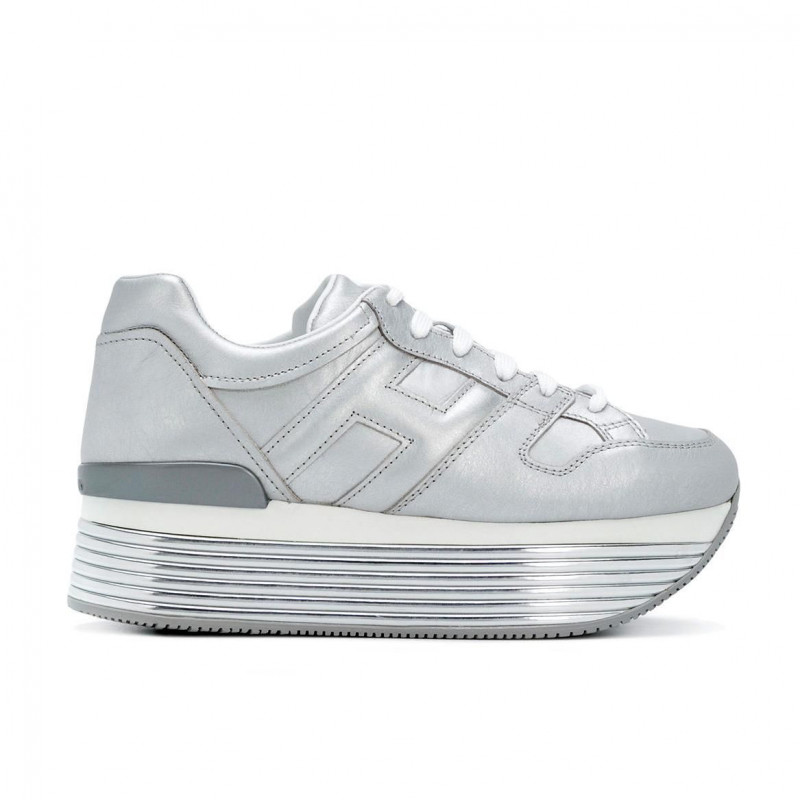 White and silver H222 sneakers Hogan KOmOyNO8l