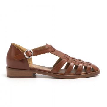 sandals woman lorenzo masiero b441322 np cuoio