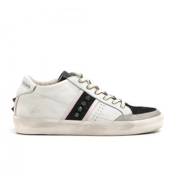 sneakers donna leather crown wlc 17808 2833