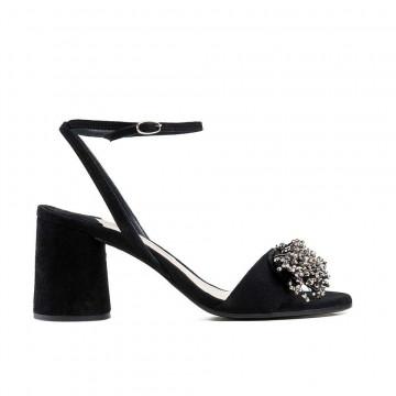 sandals woman roberto festa c1027 assiacamoscio nero