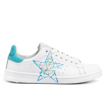 sneakers donna nira rubens dast96blue fluo