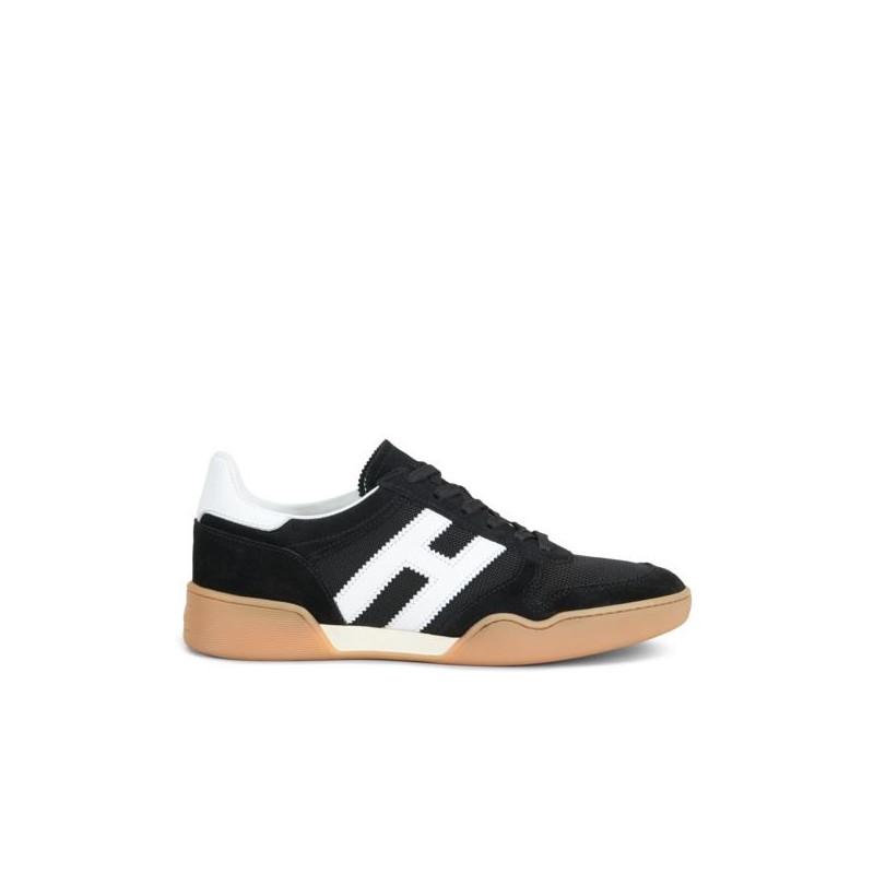 Sneakers H357 Camoscio E Tessuto In Nero 0X8PwkOn