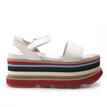 sandals woman ras 9185guanto white
