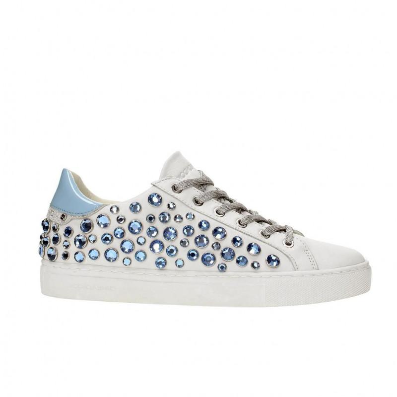 azzurri bianca Sneakers con BEAT strass wgqnzz7C