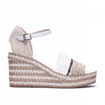 sandals woman paloma barcelo jarapuntiraf white
