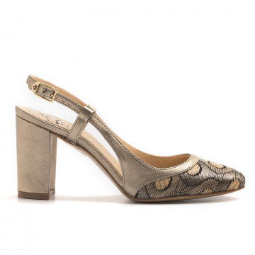 decollet donna larianna ch 1095pois taupe 3135