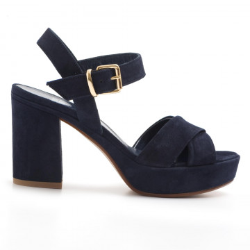 sandali donna silvia rossini 1513 5053camoscio blu navy