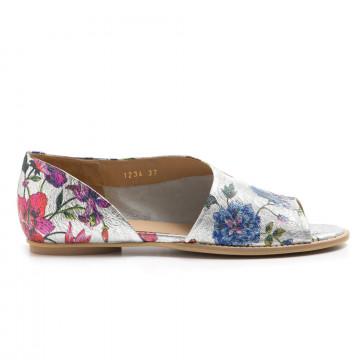 sandals woman zoe tarr 1234caraibi argento