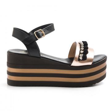 sandals woman le barbottine  2070vacc nero